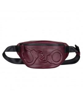 Поясная сумка Vlieger & Vandam c наручниками бургунди
