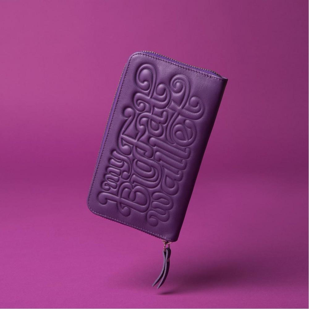 Портмоне Vlieger & Vandam 'My Big Fat Wallet' фиолетовое