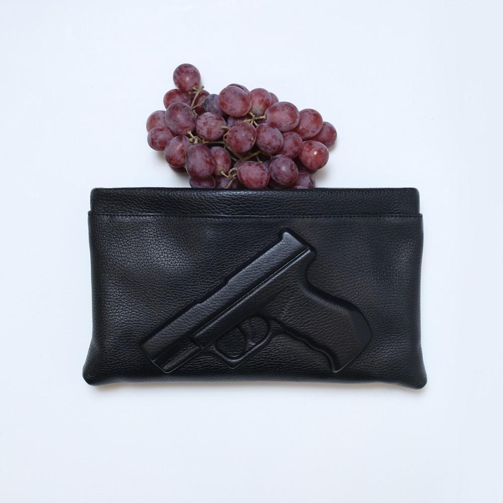 Клатч Vlieger & Vandam 'Guardian Angel Gun' черный - Фото 2