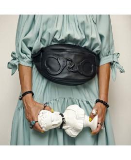 Поясная сумка Vlieger & Vandam c наручниками черная