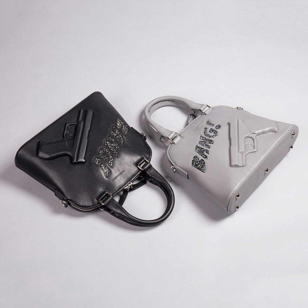 Сумка Vlieger & Vandam 'Guardian Angel Classic Small Gun Bang' серая - Фото 2