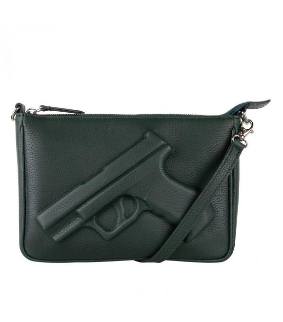 Сумочка Vlieger & Vandam 'Guardian Angel Gun' темно-зеленая