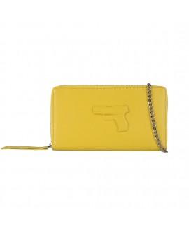 Клатч-кошелек Vlieger & Vandam на цепочке с пистолетом желтый