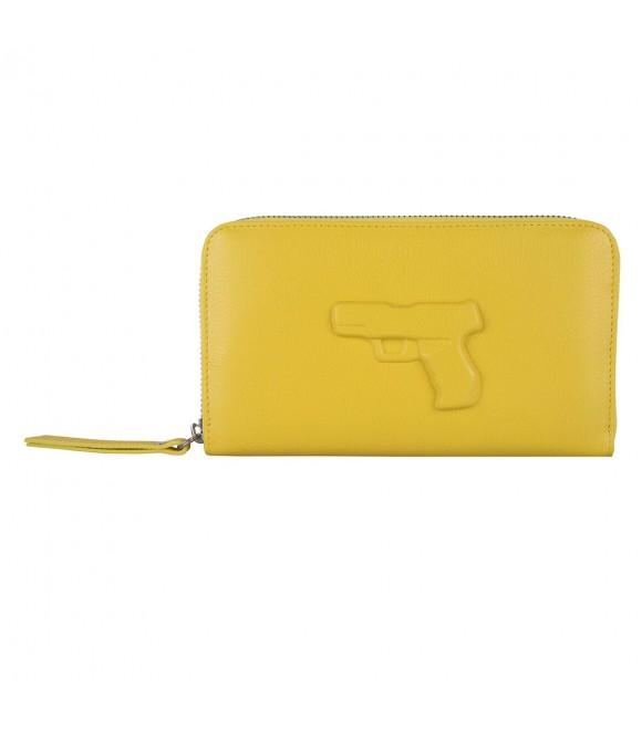 Портмоне Vlieger & Vandam 'Gun' желтое