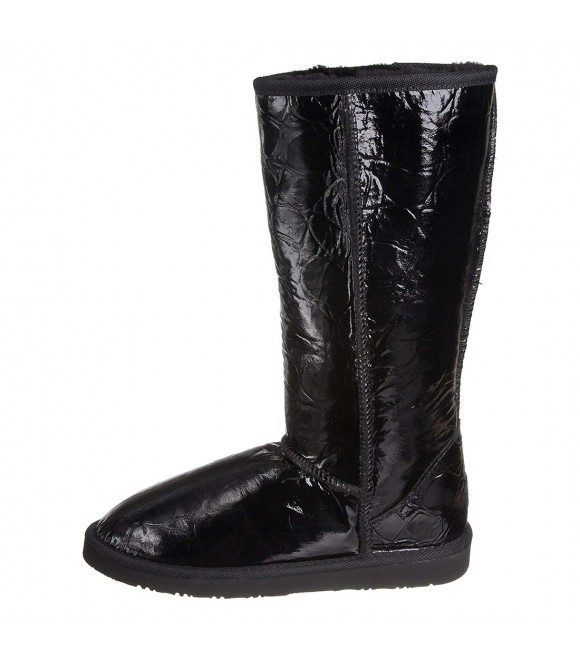 WLM New Zealand Patent Knee High Boot