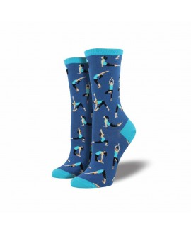 Носки Socksmith «Йога» голубые