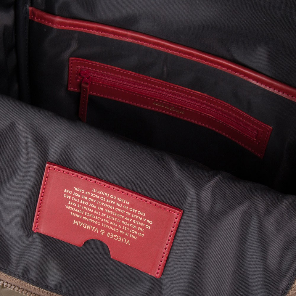 Рюкзак Vlieger & Vandam Guardian Angel с наручниками в цвете мха