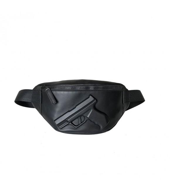 Купить кожаную поясную сумку с пистолетом