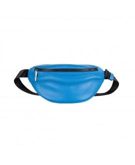 Поясная сумка Vlieger & Vandam cо змеей синяя