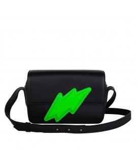 Сумочка Vlieger & Vandam 'Flash', черный и неоновый зеленый
