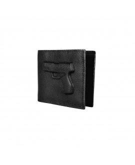 Бумажник Vlieger & Vandam с пистолетом черный