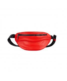 Поясная сумка Vlieger & Vandam cо змеей красная