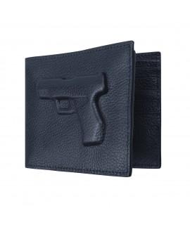 Бумажник Vlieger & Vandam с пистолетом темно-синий