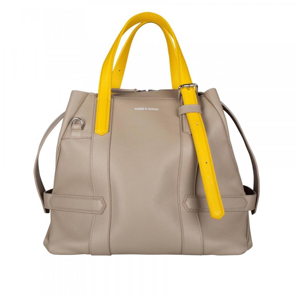Сумка Vlieger & Vandam Carry-All в глиняном цвете с желтыми ручками