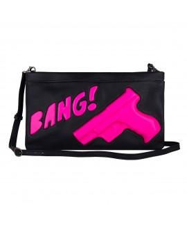 Клатч Vlieger & Vandam 'Gun Bang' черный с неоновым розовым