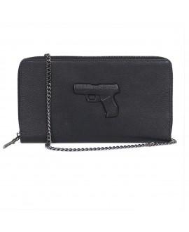 Клатч-кошелек Vlieger & Vandam на цепочке с пистолетом черный